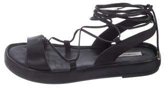 Diane von Furstenberg Lace-Up Leather Sandals