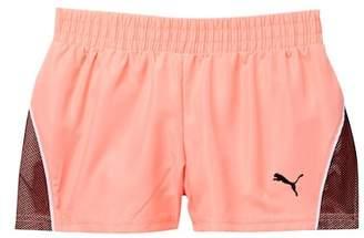 Puma Pacer Mesh Overlay Shorts (Little Girls)