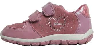 Geox Infant Girls Shaax Trainers Dark Pink
