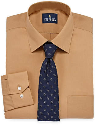 STAFFORD Stafford Box Shirt And Tie Set Mens Point Collar Long Sleeve Stretch Shirt + Tie Set