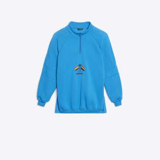 Balenciaga Brushed fleece and jersey double sweatshirt