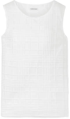 Tomas Maier Textured Cotton-gauze Top - White