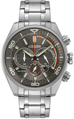 Citizen Eco-Drive Men's Chronograph Titanium Stainless Steel Bracelet Watch 45mm CA4330-57H, A Macy's Exclusive $375 thestylecure.com