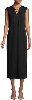 C&C California Women's Lace-Up Sleeveless Midi Dress