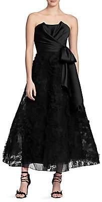 Marchesa Women's Sleeveless Tea-Length Gown
