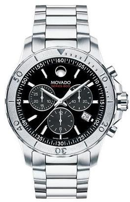 Movado Series 800 Chronograph Watch, Silver/Black $1,195 thestylecure.com