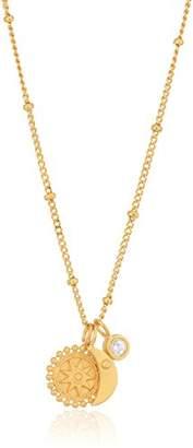Satya Jewelry Celestial Goddess White Topaz Mandala Moon Charm Pendant Necklace