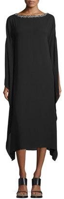 Michael Kors Embellished-Neck Midi Caftan, Black $1,995 thestylecure.com