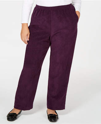8be46f707be Alfred Dunner Plus Size Classics Corduroy Pull-On Pants