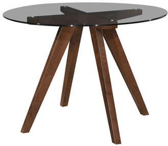 clear Oslo Home Walnut Hjordis Scandi Dining Table Glass)