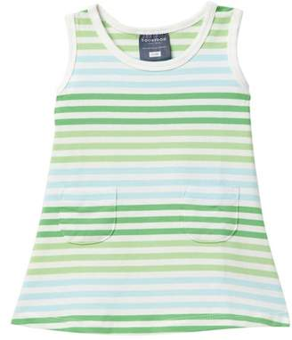Toobydoo Green Meadow Striped Tank Dress (Baby, Toddler, & Little Girls)