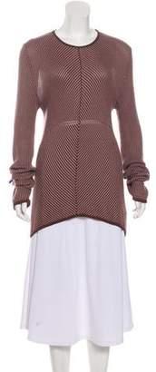 Armani Collezioni Striped High-Low Sweater