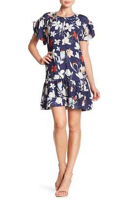 Parker Flutter Sleeve Floral Dress