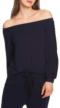 1 STATE 1.STATE Lace Detail Off the Shoulder Top
