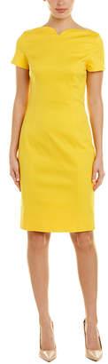 Oscar de la Renta Silk-Lined Wool-Blend Sheath Dress