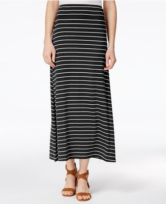 kensie Striped Maxi Skirt $49 thestylecure.com