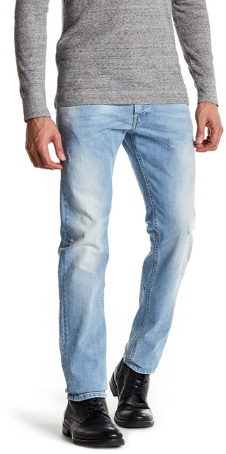 Diesel Diesel Belther Slim Fit Light Wash Jean