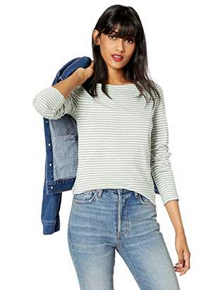 J.Crew Mercantile Women's Long-Sleeve Striped Boatneck T-Shirt,S