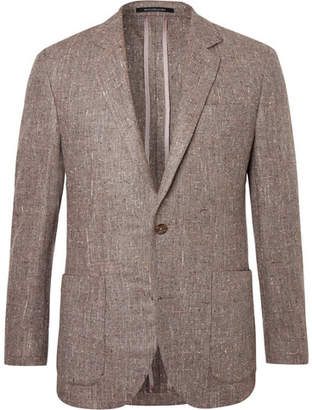 Richard James Brown Slim-Fit Silk, Wool And Cashmere-Blend Blazer