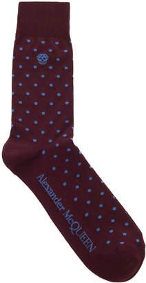 Alexander McQueen Polka Dot Cotton-Blend Socks