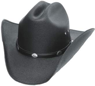 Express Western Classic Cattleman Straw Cowboy Hat with Silver Conchos and Elastic Band - L/XL