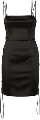 Unravel Lace-Up Buckle Dress