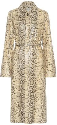 Bottega Veneta Snake-effect leather coat