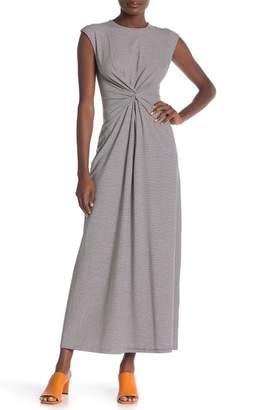 Theory Striped Twist Front Maxi Dress