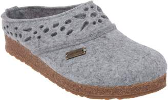 Haflinger Wool Felt Laced Clogs - Lacey