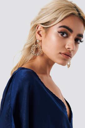 Na Kd Boho Leaf Circle Earrings