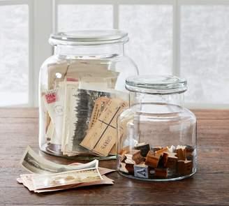 Pottery Barn Lidded Glass Jar