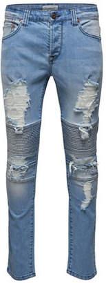 ONLY & SONS Destroyed Biker Slim Jeans