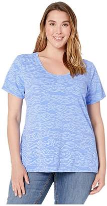 Fresh Produce Extra Fresh by Plus Size Seashore Luna Top