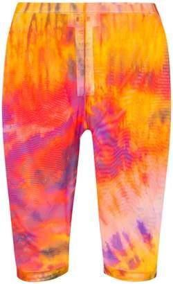 MSGM tie-dye print knee-length cycling shorts