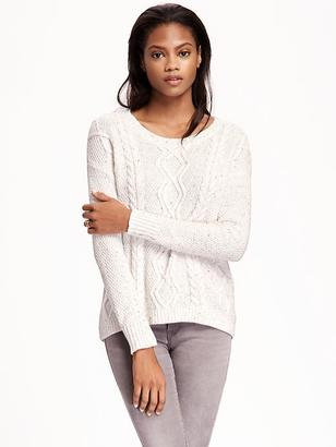 Hi-Lo Cable-Knit Sweater for Women $39.94 thestylecure.com