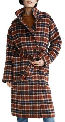 Madewell Plaid Belted Coat