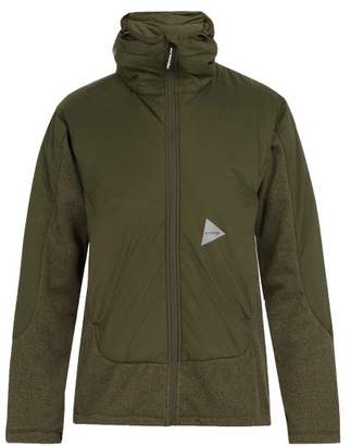 And wander And Wander - Zip Through Hooded Fleece Jacket - Mens - Khaki