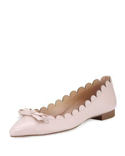 Kate SpadeKate Spade New York Eleni Flex Scalloped Ballerina Flat, Pale Pink