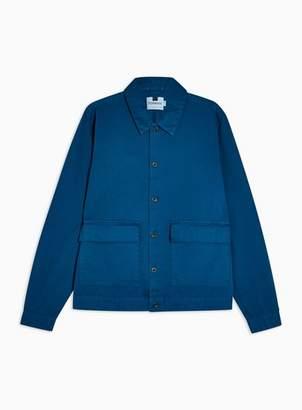 Topman Mens Cobalt Blue Regular Overshirt