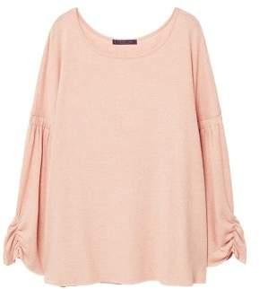 Violeta BY MANGO Ruched sleeve sweatshirt