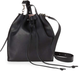 J.W.Anderson Black Drawstring Leather Shoulder Bag
