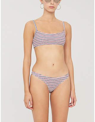 2b99eecd187b3 Frankie's Bikinis FRANKIES BIKINIS Boots striped bikini top