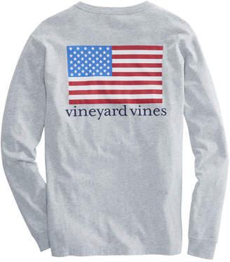 Vineyard Vines Long-Sleeve American Flag Pocket T-Shirt