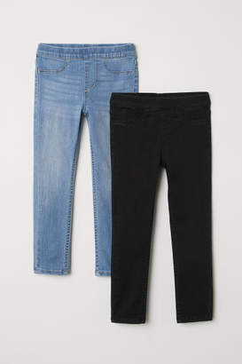 H&M 2-pack Denim Leggings - Black