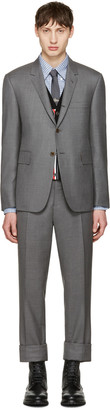 Thom Browne Grey Wool Classic Suit $2,590 thestylecure.com