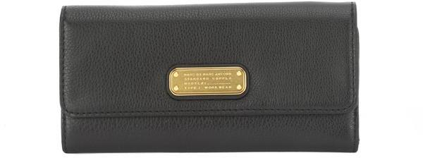 Marc By Marc Jacobs Marc Jacobs Black Classic Q Long Trifold Wallet (New with Tags)