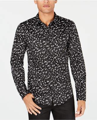 GUESS Mens Luxe Dot-Print Shirt