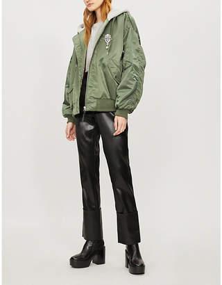 The Kooples Contrast hood bomber jacket