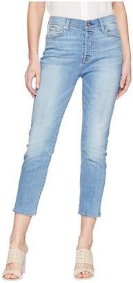 7 For All Mankind High-Waist Josefina w/ Distress in Heritage Valley 4 Women's Jeans