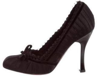 Louis Vuitton Satin High-Heel Pumps